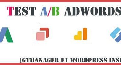 Créér un test AB avec Google Optimize pour Adwords