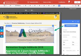 Interface editeur variante depuis chrome