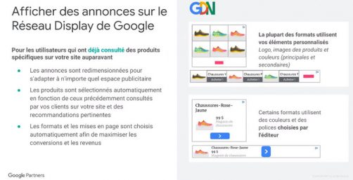 annonces google shopping universel display