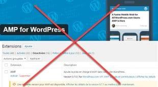 Désactivation de l'AMP de WordPress.com