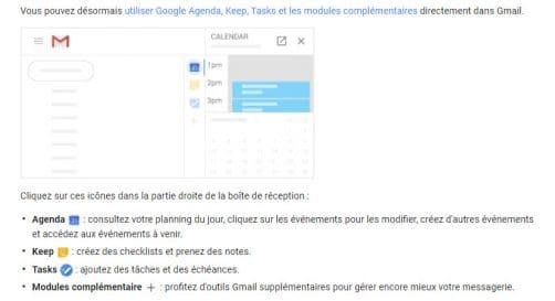 Pincipale Nouveauté sur Gmail