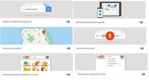 Ecoute des services Google