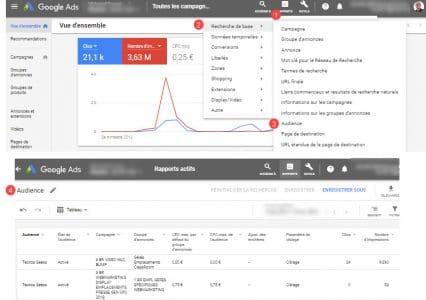 Rapports audiences Google ads
