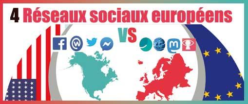 4 réseaux sociaux Européennes pour contrer les Américains
