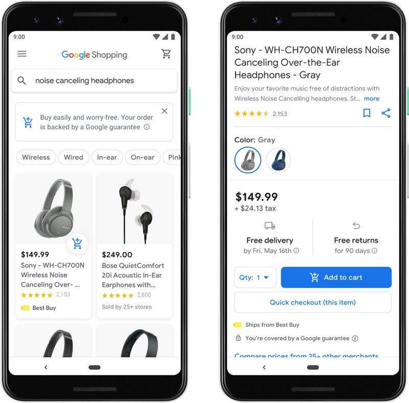 Google-Shopping 2019 2020 directement depuis le lien