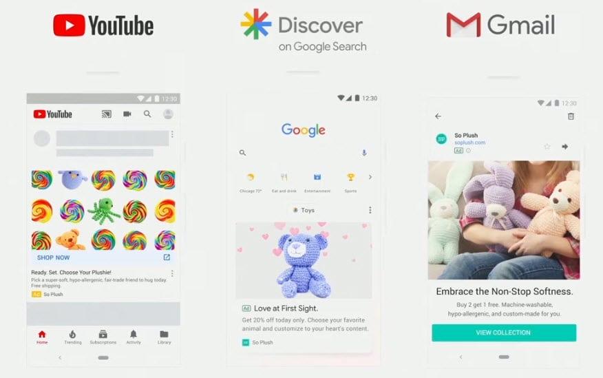 """Flux Discover ouvert aux """"discovery ads"""" par google"""