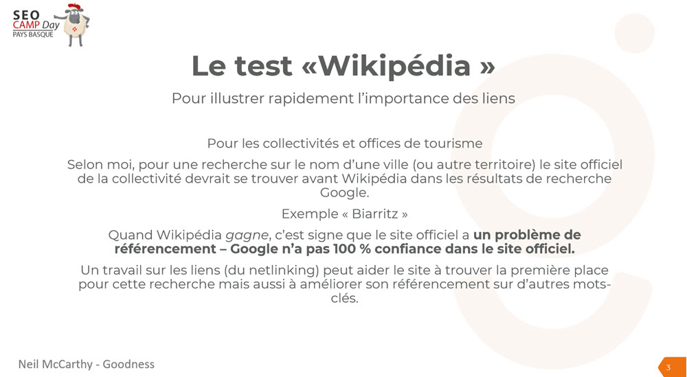 test wikipedia seo