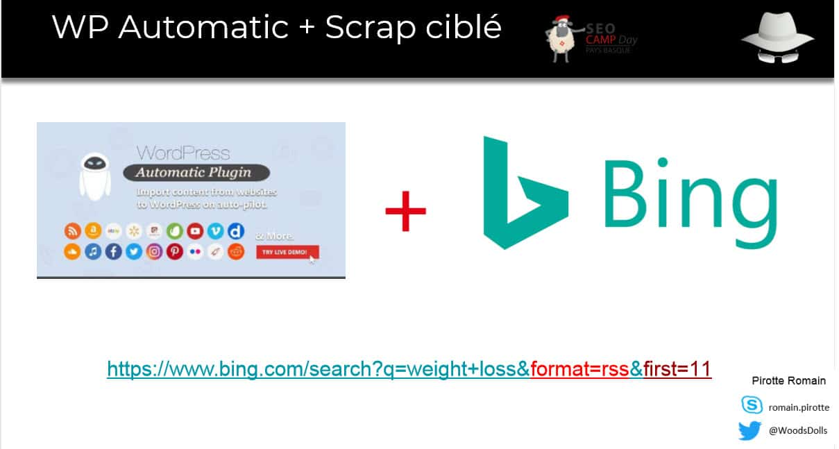 Scraping contenu avec Bing