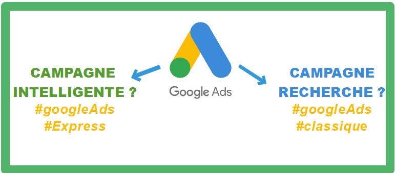 Google ads express (mode intelligent) ou Google ads classique (mode expert ) ?