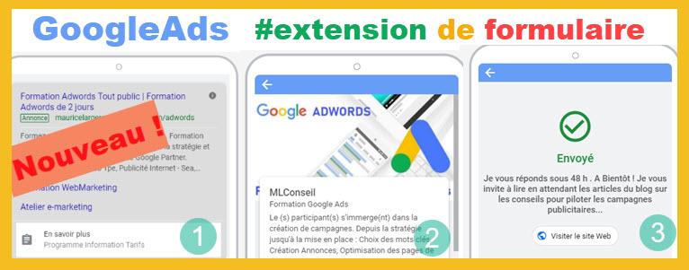 Extension google de formulaire