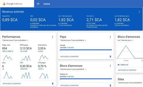Google Adsense pour Monétiser le traffic d'un site Web