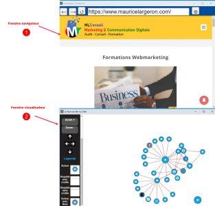 lancement navigateur et visualiseur