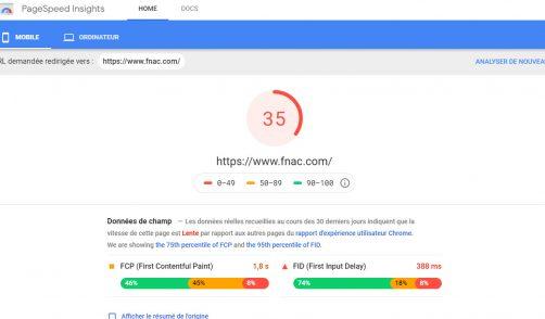 Page SPeed pour mesurer les performances d'affichage des pages