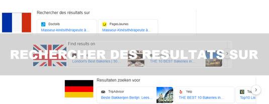Rechercher des résultats sur , 1 serp google à suivre