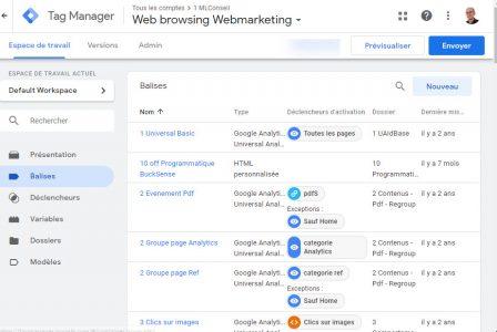 Tag Manager pour centraliser les traceurs d'un site web