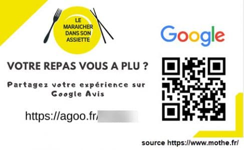 Carte de visite estampillée Google maps