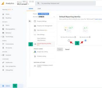 Identité utilisateur google analytics app et web