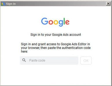 Authentification google ads
