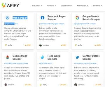 Apify : automatisation de la collecte de données