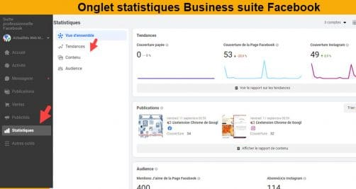 Statistiques business suite facebook