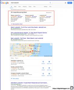 Résultats avec Google Annonces Local Services