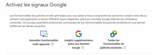 Signaux google analytics