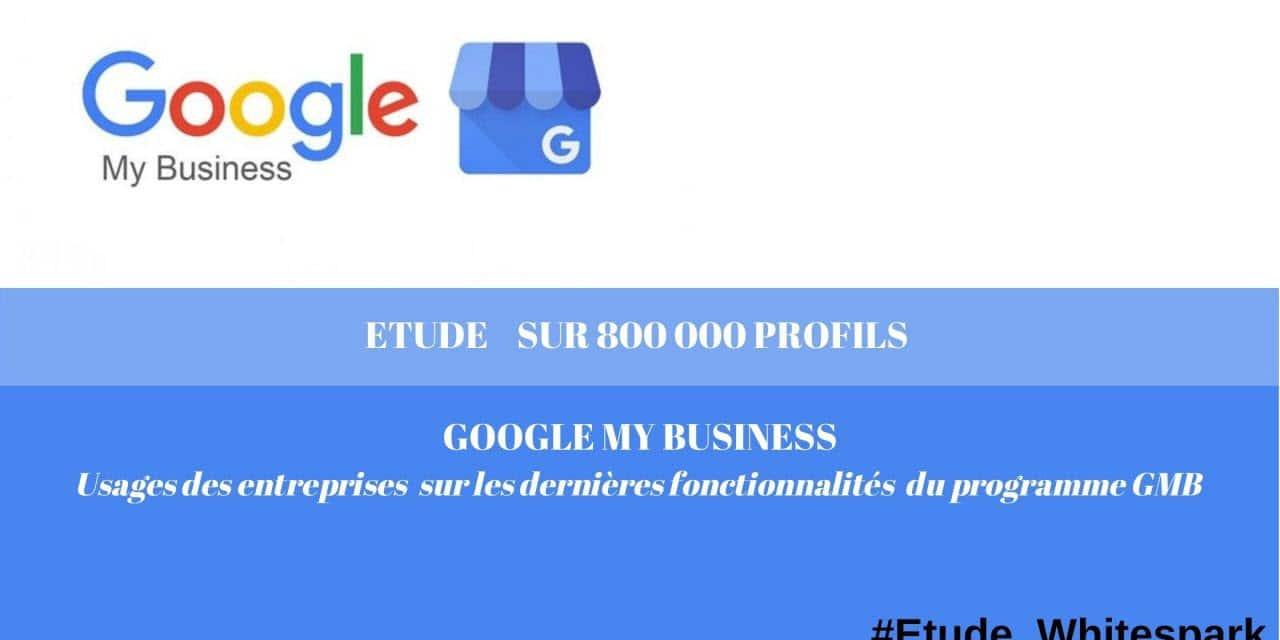 Google My Business Etude sur ses Usages par les professionnels