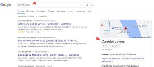 Ensuite position sur le moteur google