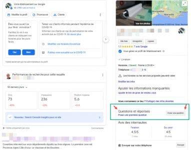 Gestion des questions réponses sur google my business