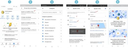 Etapes Inscription google maps avec Smartphone