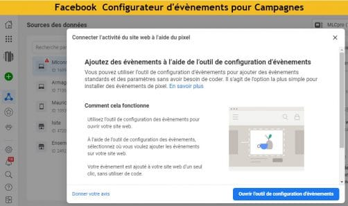 Facebook Gestionnaire evenements