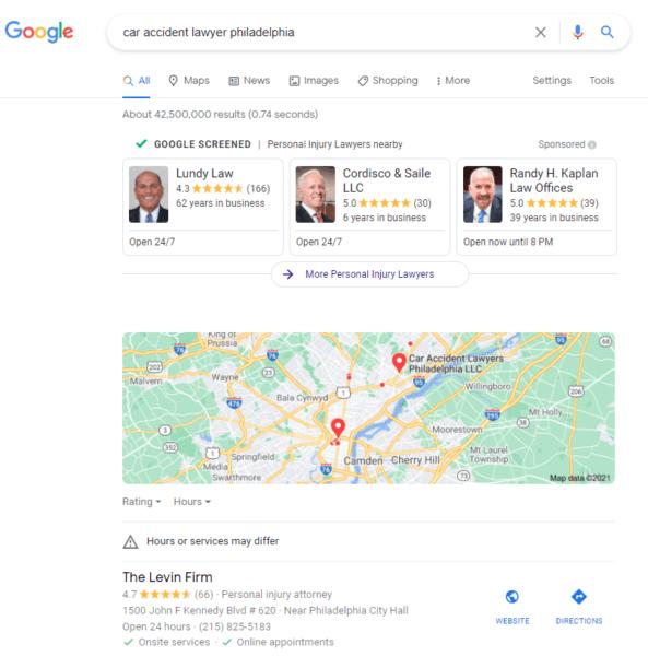 Annonces google local service ads pour avocats