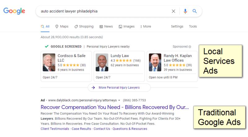 Apercu des annonces locales services pour avocats