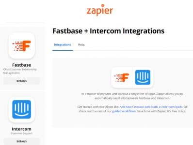 Integration zapier fastbase