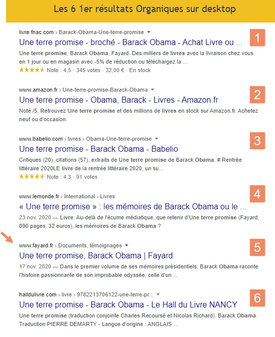 6 1er serp desktop google