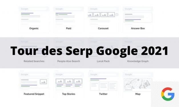 Serp Google ou typologie des résultats de recherche en 2021