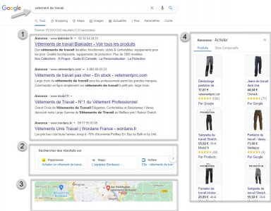 Intention commerciale serp google