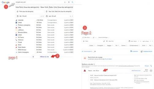 Blocs service google: comparateur de vols