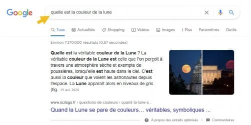 Extrait optimsisés google