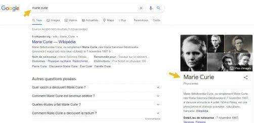 Knowledge graph exemple