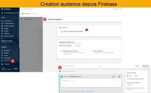 Editeur d'audience Firebase ou google analytics 4
