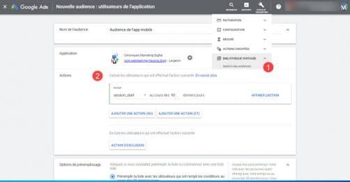 Importation d'audience depuis firebase pour google ads