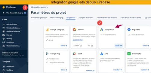 Integrer google ads pour google analytics 4