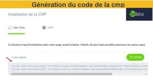 Génération du Code de la Cmp