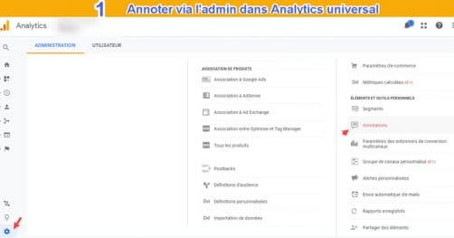 Annotation universal analytics