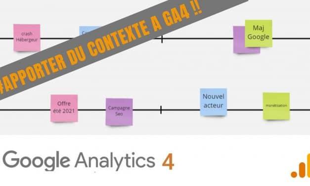 Comment faire des annotations dans Google Analytics 4 ?