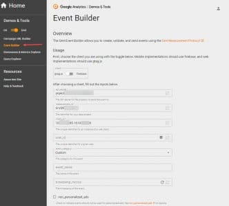 Version récente event builder