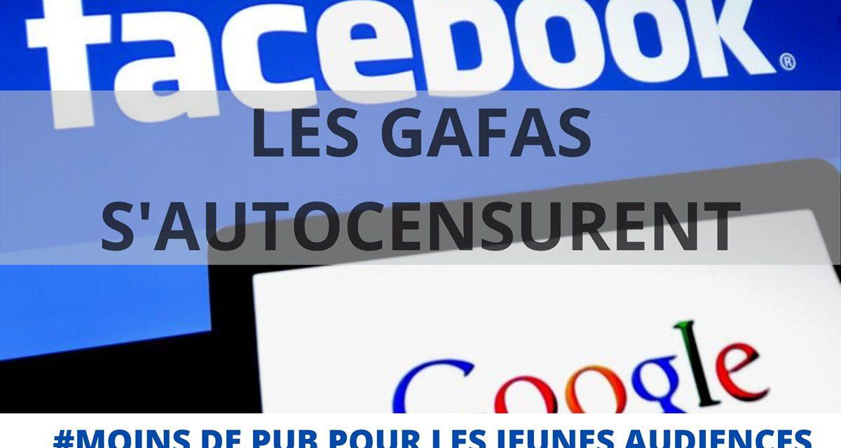 Les GAFA s'autocensurent avec moins de publicité envers les jeunes générations