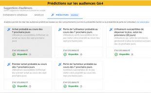 Predictions audiences ga4