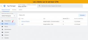 Vue navigation et client gtm google